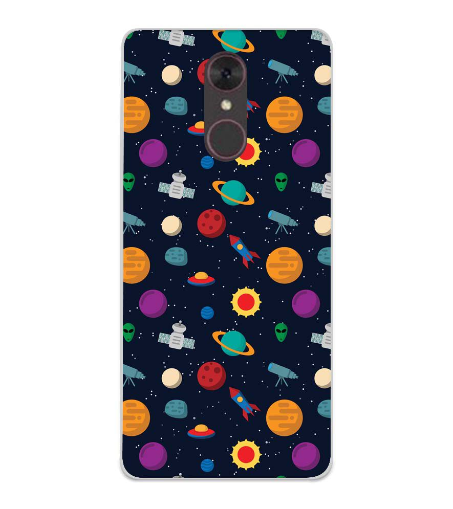 Galaxy Pattern Soft Silicone Back Cover for Spice F311