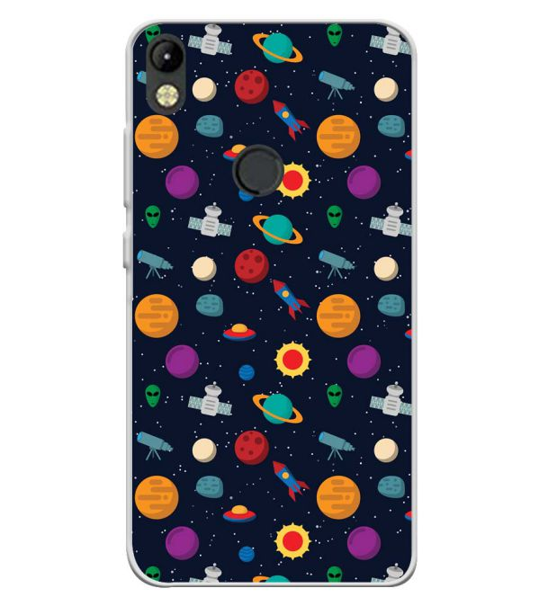 Galaxy Pattern Soft Silicone Back Cover for Tecno Camon I