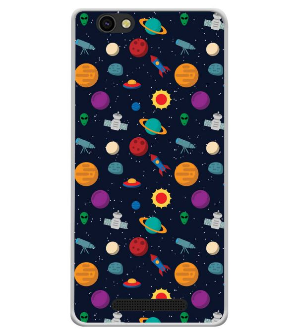 Galaxy Pattern Soft Silicone Back Cover for Xolo ERA X