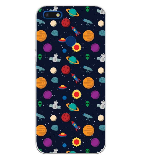 Galaxy Pattern Soft Silicone Back Cover for YU Ace