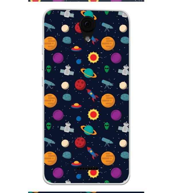 Galaxy Pattern Soft Silicone Back Cover for Yu Yunique 2 Plus