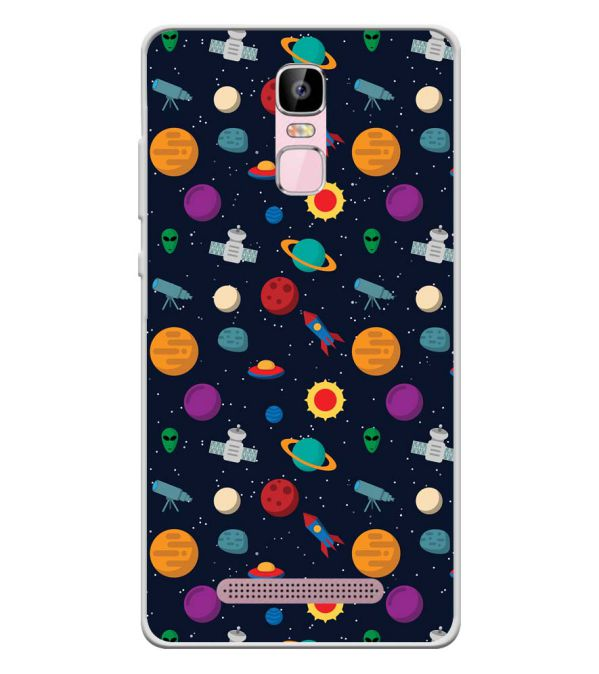 Galaxy Pattern Soft Silicone Back Cover for Zen Admire Sense Plus