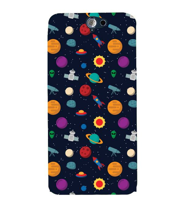 Galaxy Pattern Back Cover for HTC One A9