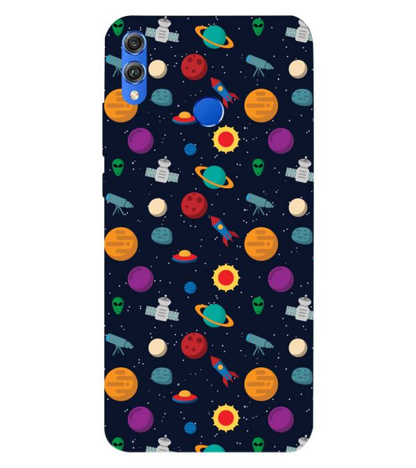 Galaxy Pattern Back Cover for Huawei Honor 8X