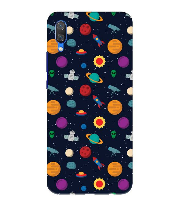 Galaxy Pattern Back Cover for Huawei Nova 3