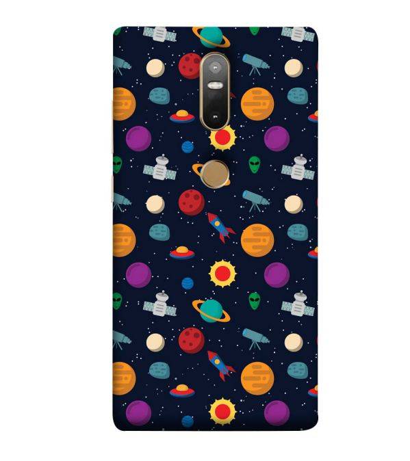 Galaxy Pattern Back Cover for Lenovo Phab 2 Plus
