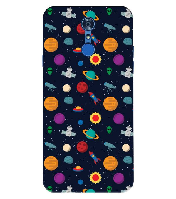 Galaxy Pattern Back Cover for LG Q7