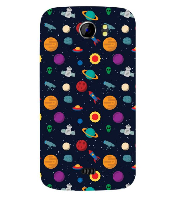 Galaxy Pattern Back Cover for Micromax A110 Canvas 2
