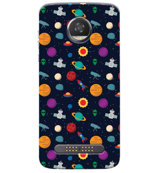 Galaxy Pattern Back Cover for Motorola Moto Z3 Play