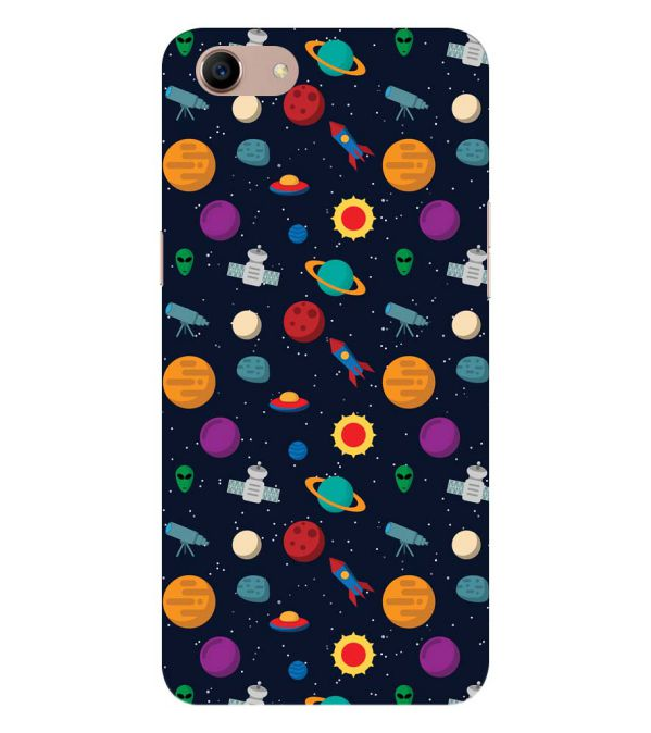 Galaxy Pattern Back Cover for Oppo A83