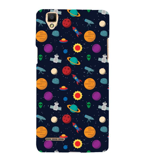 Galaxy Pattern Back Cover for Oppo F1
