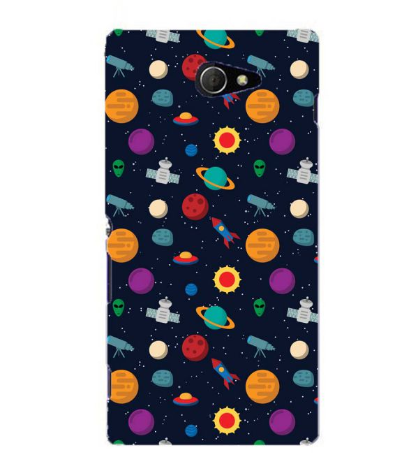 Galaxy Pattern Back Cover for Sony Xperia M2