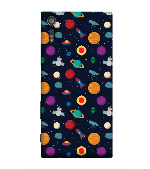 Galaxy Pattern Back Cover for Sony Xperia XR
