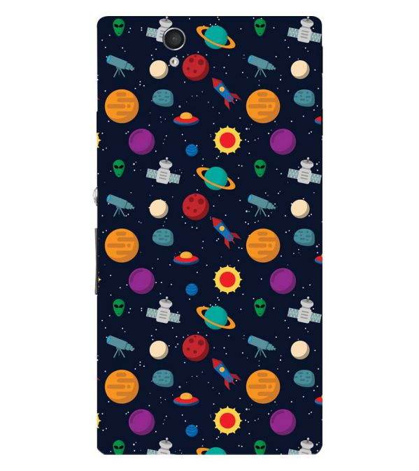 Galaxy Pattern Back Cover for Sony Xperia Z