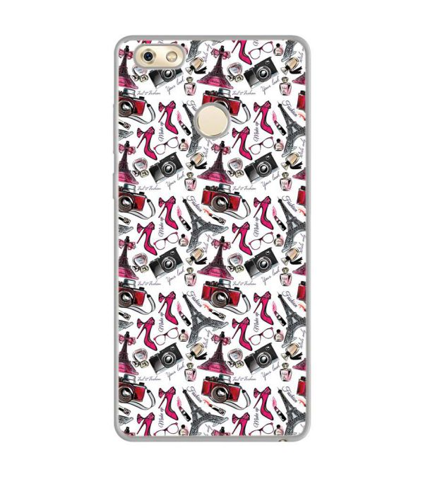 Girl Paris Dream Soft Silicone Back Cover for Gionee M7 Power