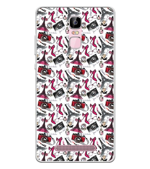 Girl Paris Dream Soft Silicone Back Cover for Zen Admire Sense Plus