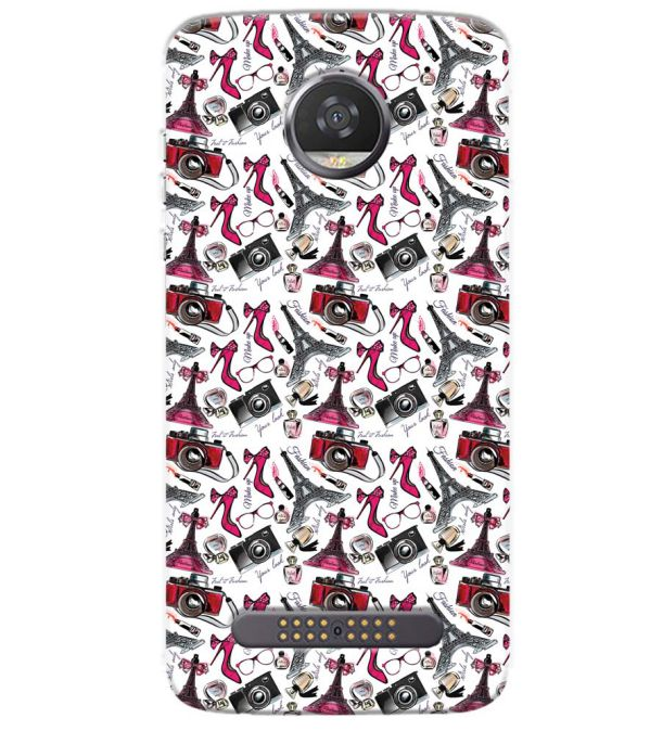 Girl Paris Dream Back Cover for Motorola Moto Z3 Play