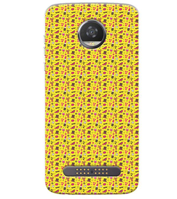 Girl's Dream Pattern Back Cover for Motorola Moto Z3 Play