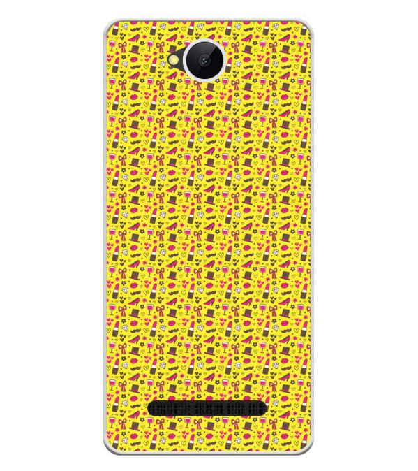 Girl's Dream Pattern Soft Silicone Back Cover for Karbonn A45 Indian