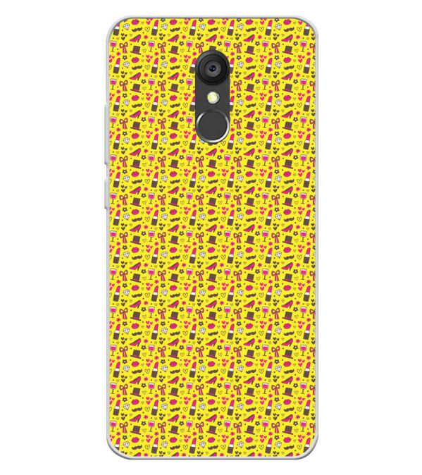 Girl's Dream Pattern Soft Silicone Back Cover for Panasonic Eluga Ray 550