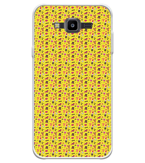 Girl's Dream Pattern Soft Silicone Back Cover for Samsung Galaxy J7 Nxt