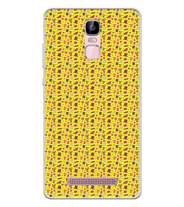 Girl's Dream Pattern Soft Silicone Back Cover for Zen Admire Sense Plus