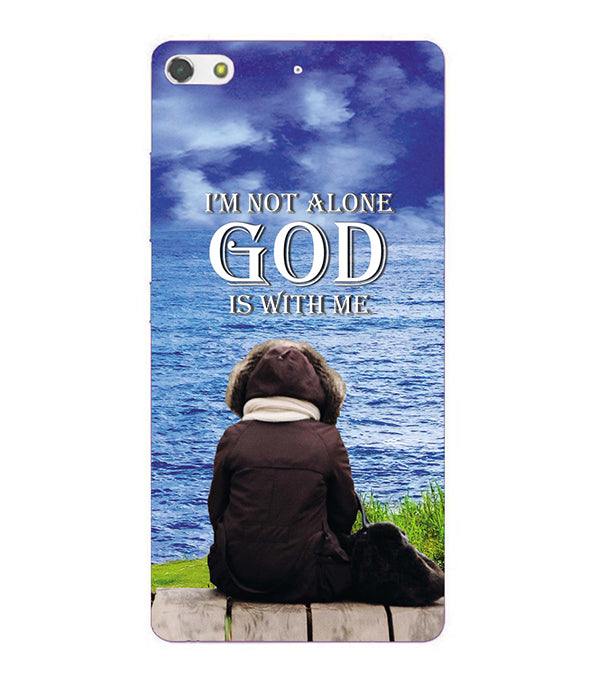 God is with Me Back Cover for Gionee Elife S7