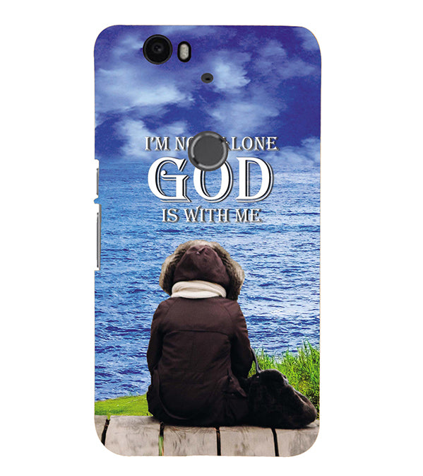 God is with Me Back Cover for Google Nexus 6P