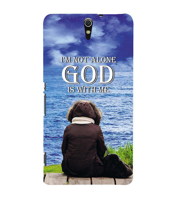 God is with Me Back Cover for Sony Xperia C5