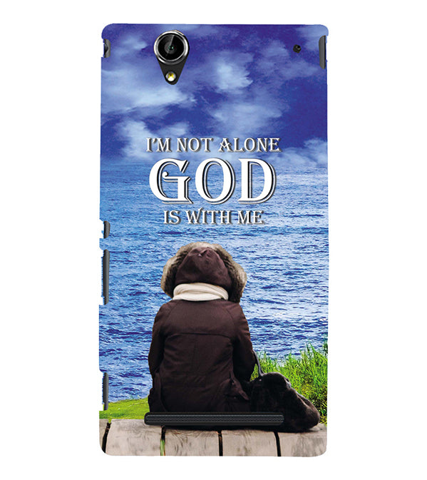 God is with Me Back Cover for Sony Xperia T2