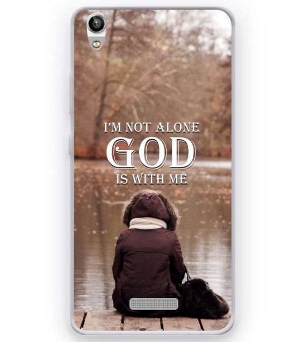 God is with Me Soft Silicone Back Cover for Micromax Canvas Fire Q386