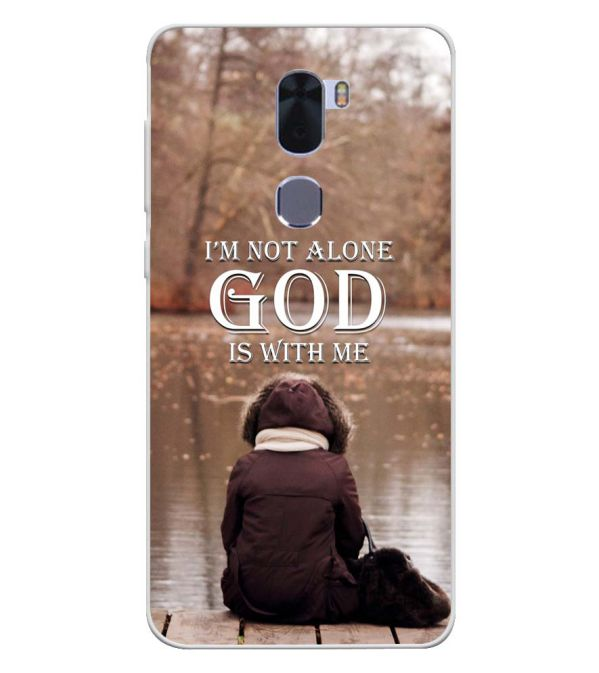 God is with Me Soft Silicone Back Cover for Coolpad Cool 1