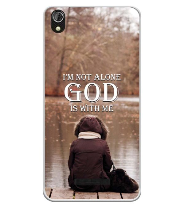 God is with Me Soft Silicone Back Cover for Gionee P5W