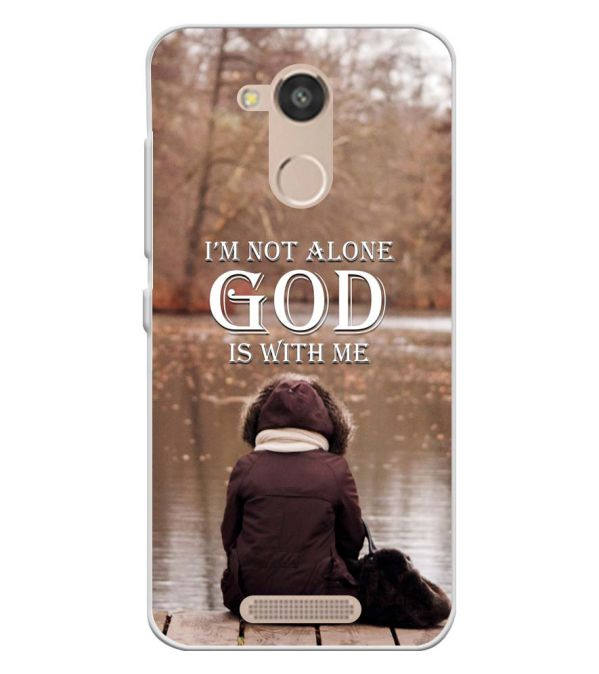 God is with Me Soft Silicone Back Cover for InFocus Turbo 5s