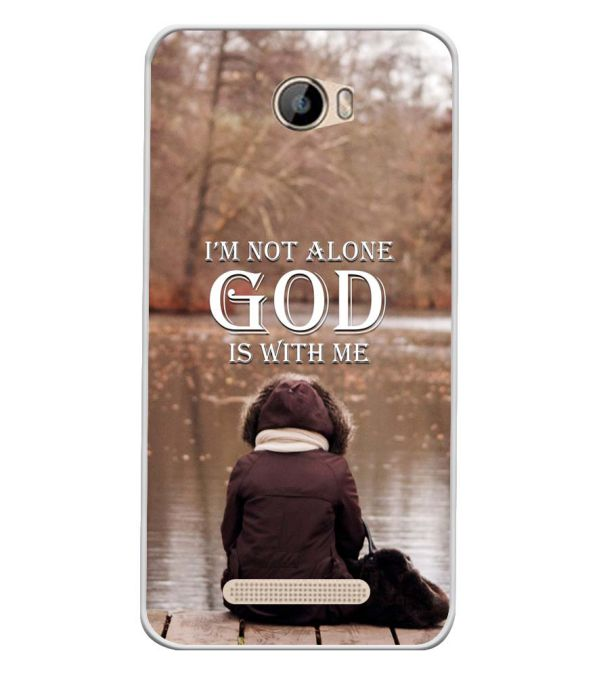 God is with Me Soft Silicone Back Cover for Intex Aqua 5.5 VR