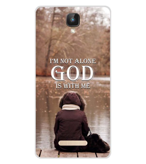 God is with Me Soft Silicone Back Cover for Intex Aqua Lions 2 4G