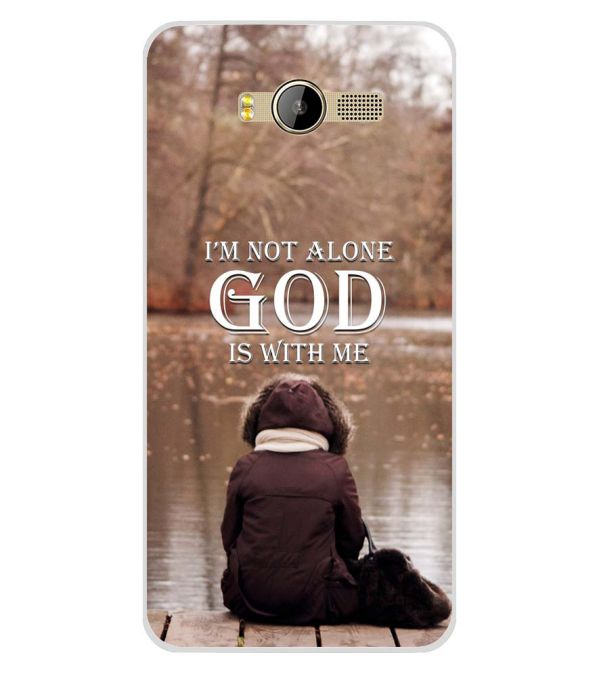 sale retailer 2f4e7 d891b God is with Me Soft Silicone Back Cover for Karbonn K9 Smart Yuva