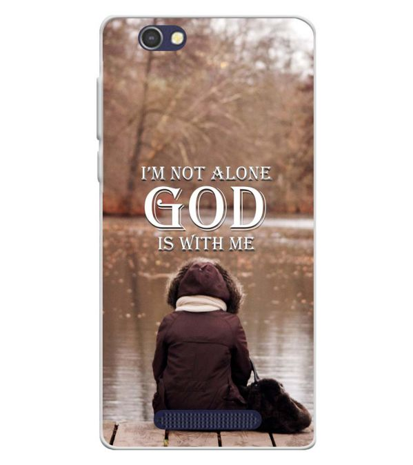 God is with Me Soft Silicone Back Cover for Lava A72