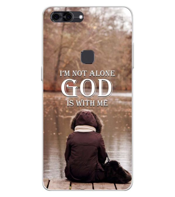 God is with Me Soft Silicone Back Cover for Lava Z90