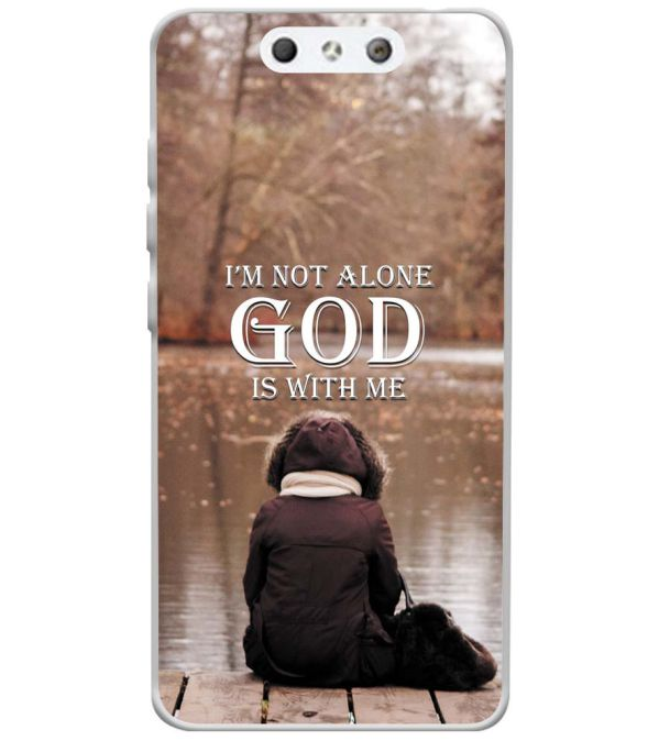 God is with Me Soft Silicone Back Cover for LYF Earth 1