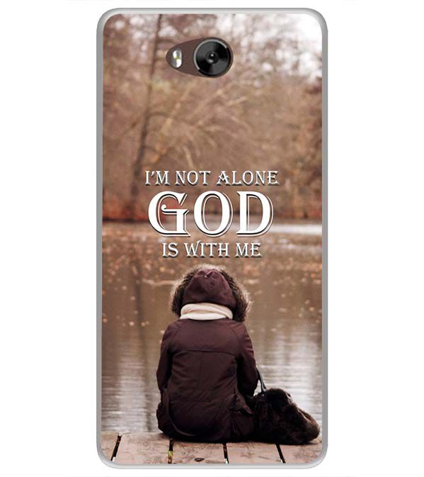 God is with Me Soft Silicone Back Cover for LYF Wind 4s