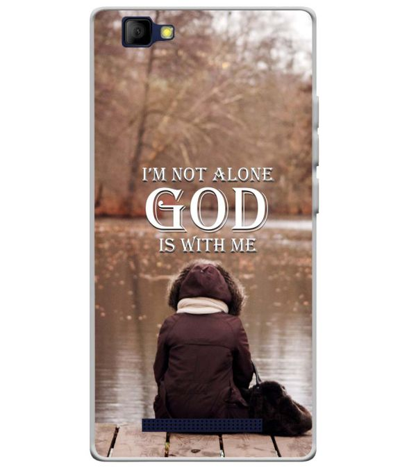 God is with Me Soft Silicone Back Cover for Lyf Wind 7S