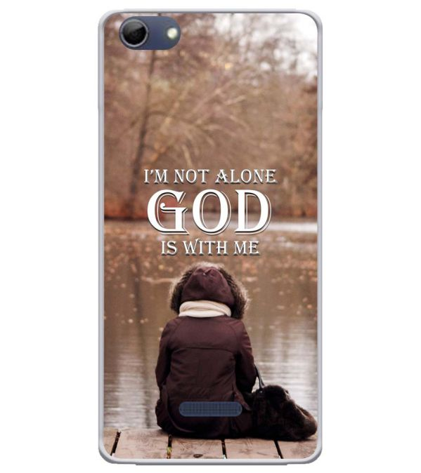 God is with Me Soft Silicone Back Cover for Micromax Selfie 3 Q348