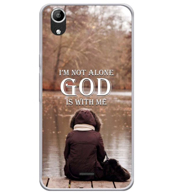 God is with Me Soft Silicone Back Cover for Micromax Selfie Lens Q345