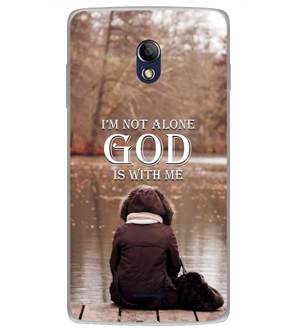 God is with Me Back Cover for Oppo Joy 3 Plus
