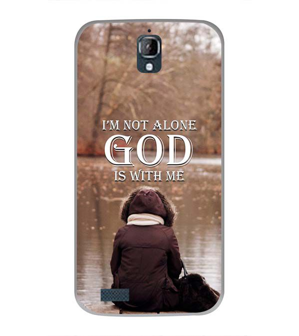God is with Me Back Cover for Panasonic Eluga Icon