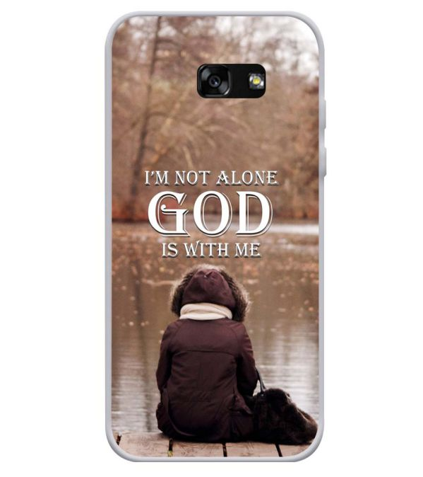 God is with Me Soft Silicone Back Cover for Samsung Galaxy A3 (2017)