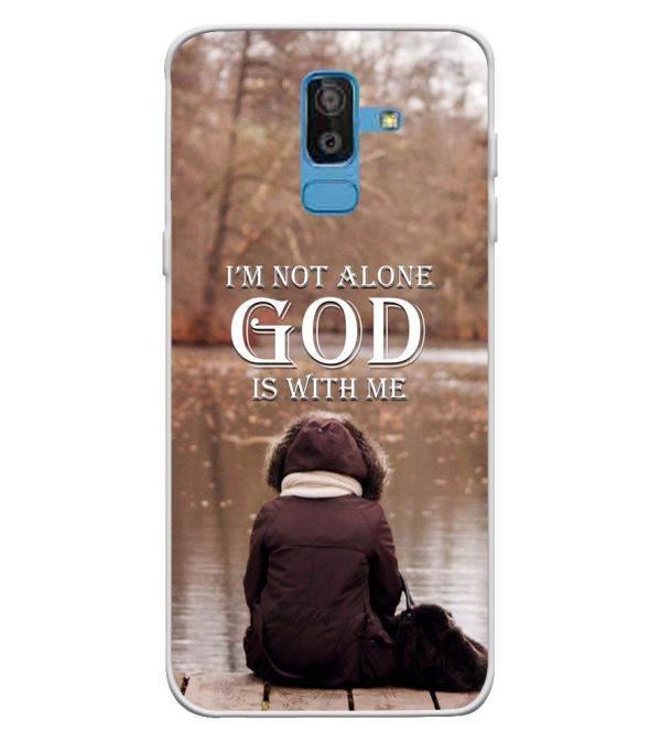 brand new 11d2a b24a4 God is with Me Soft Silicone Back Cover for Samsung Galaxy On8