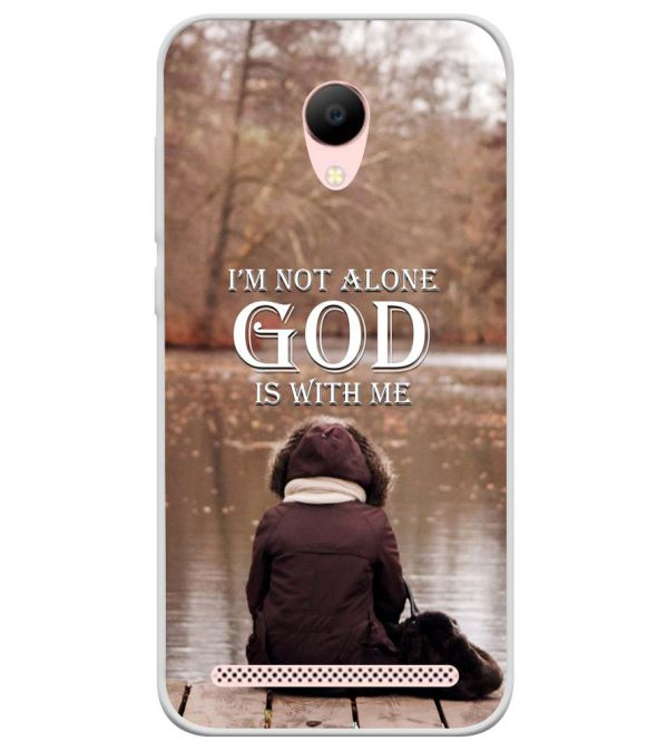 God is with Me Soft Silicone Back Cover for Voto V2