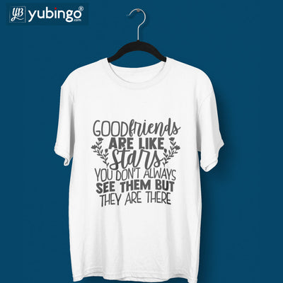 Good Friends Are Like Stars T-Shirt-White